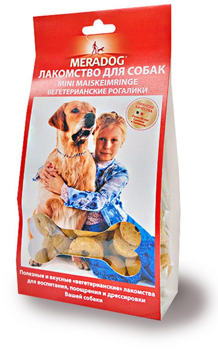 Лакомство для собак Meradog Mini Maiskerimringe, вегетарианские рогалики, 150 г941310Печенье (лакомства) для собак. Как вознаграждение, а также дополнение к основному рациону собак