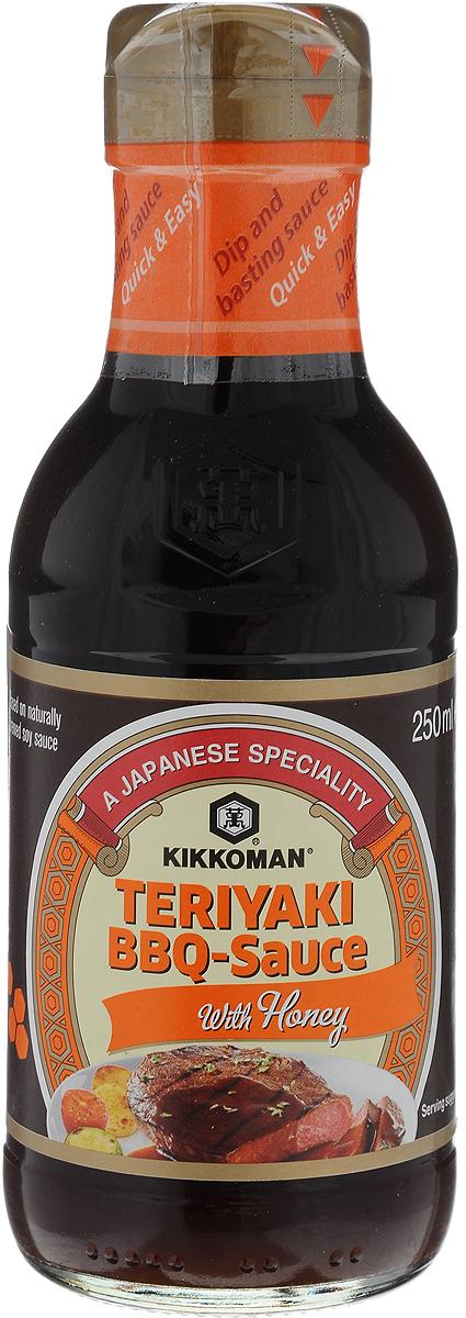 Kikkoman соус-барбекю Teriyaki с медом, 250 мл0120710Соус-барбекю Kikkoman Teriyaki - превосходный полностью готовый соус. Терияки - популярная японская техника приготовления пищи, при которой еда готовится на гриле и в процессе приготовления приобретает глазированную корочку. Вы можете создать мясные блюда с чудесным вкусом барбекю и меда. Придает утонченный вкус мясу или рыбе.Уважаемые клиенты! Обращаем ваше внимание, что полный перечень состава продукта представлен на дополнительном изображении.