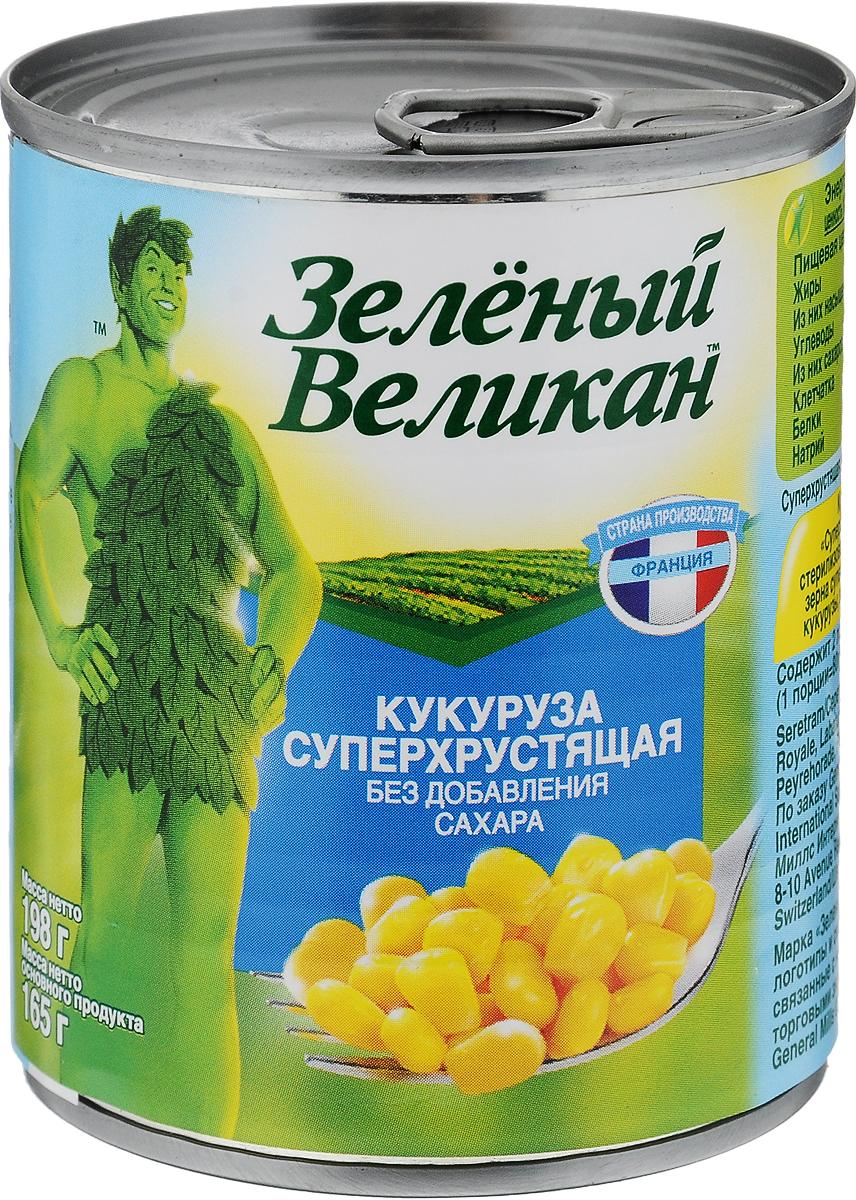 Зеленый великан кукуруза суперхрустящая, 198 г18301Специальные сорта кукурузы с пониженным содержанием сахара дают удивительно хрустящие зерна даже после консервации. Сочные золотистые зерна отличаются насыщенным вкусом и отличной упругостью. Используйте как самостоятельное лакомство или для приготовления салатов и закусок.