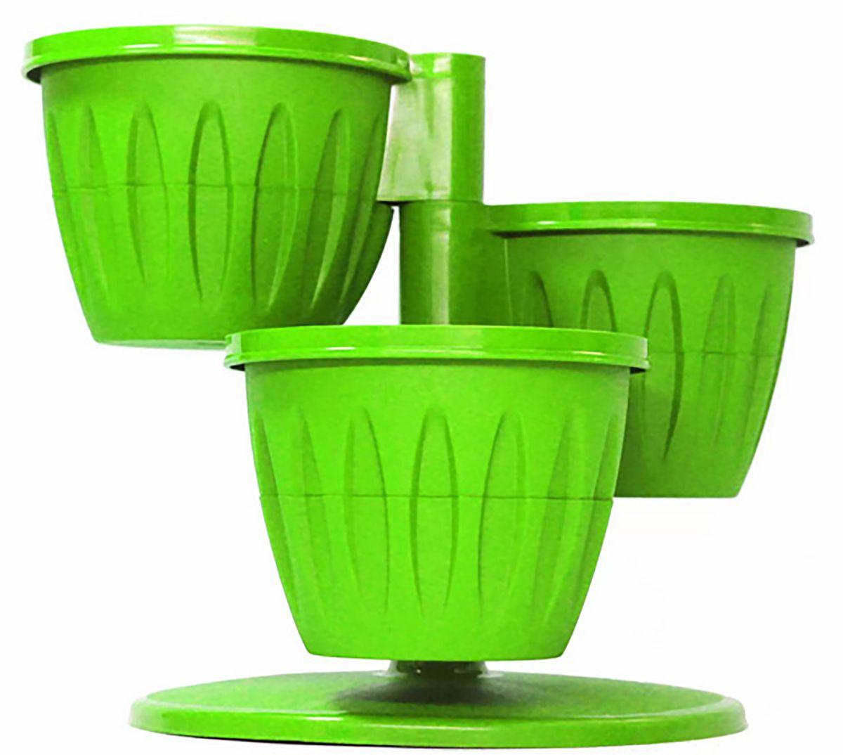 Цветочный каскад JetPlast Каскад, с подставкой, цвет: фисташковый, 29 x 23 см531-326Цветочный каскад состоит из трех горшков, установленных на одну подставку. Каждый горшок состоит из двух частей: в верхнюю высаживается растение, а нижняя часть используется как резервуар для воды. Цветочный каскад позволяет вам эффективно использовать площадь подоконника для высадки растений.