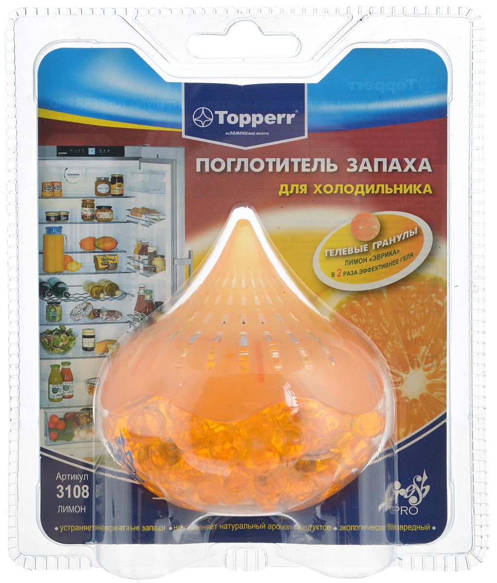 """Поглотитель запаха для холодильника Topperr """"Лимон"""", гелевый 3108"""