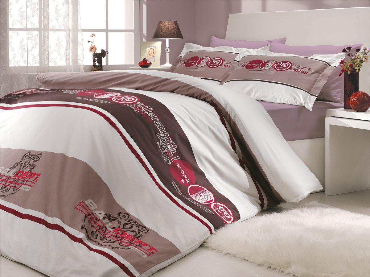 Комплект белья Hobby Home Collection Rota, 2-спальный, наволочки 50х70, 70х70, цвет: бордовый10503Комплект постельного белья Hobby Home Collection изготовлен из высококачественного поплина. Поплин - это ткань, изготавливаемая традиционным полотняным плетением из 100% хлопка, но из нитей разного калибра, за счет чего полотно получается с легким рубчиковым рельефом. По многим характеристикам ткань похожа на бязь, но на ощупь гораздо приятнее — более гладкая и мягкая. Поплин обладает лучшими свойствами ткани для постельного белья. Он плотный и в то же время мягкий на ощупь, износостойкий, немнущийся, гигроскопичный и неприхотливый в уходе, а после стирки практически не нуждается в глажке. Поплин обладает множеством преимуществ: - белье из него плотное, прочное и износостойкое; - не выцветает и не сминается; - не линяет и не деформируется (при стирке до 40°С); - натуральный хлопок в составе обеспечивает абсолютную гигиеничность постельного белья; - поплин хорошо вентилируется и впитывает влагу, отводя ее излишки от тела. По легенде этот материал впервые произвели во французской резиденции Папы Римского, городе Авиньон. За это ткань назвали поплином, что означает папский. С тех пор, вслед за Европой, полотно покорило весь мир, и на сегодня это самый востребованный материал для постельного белья. Постельное белье имеет 3D рисунок. Это объемный рисунок, который позволяет увидеть изображение более реальным, живым. 3D печать на постельном белье невозможна простым способом. Для достижения высокого качества применяется Digital textile printing (англ. Digital textile printing - прямая цифровая печать по текстилю) — способ нанесения изображения на ткань, предполагающий прямую реактивную печать. Сам вид такой печати обеспечивает долговечность нанесенного изображения. На ткань, наносится ультрачеткое и яркое 3D изображение, вследствие чего картинка выглядит очень реалистично. Просматриваются даже самые мелкие детали. Постельное белье из поплина способно не только создать идеальные