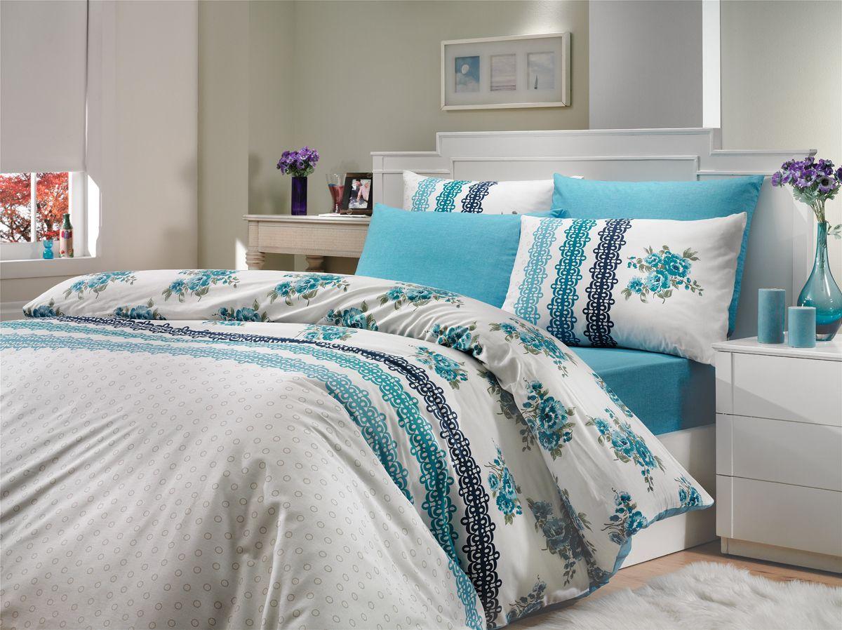 Комплект белья Hobby Home Collection Camila, 2-спальный, наволочки 70x70, цвет: синийS03301004Комплект белья Hobby Home Collection состоит из простыни, пододеяльника и 4 наволочек. Белье выполнено из ранфорса - это ткань из 100% натурального хлопка, которая легко стирается, практичнее льна, подстраивается под температуру воздуха - зимой на таком белье тепло, летом - прохладно. Мягкость и нежность материала создает чувство комфорта и защищенности. У хлопка хорошая проводимость тепла, поэтому постельное белье из него может надолго оставаться свежим. Постельное белье с оригинальными дизайнами станет отличным выбором для людей, стремящихся всегда быть стильными.