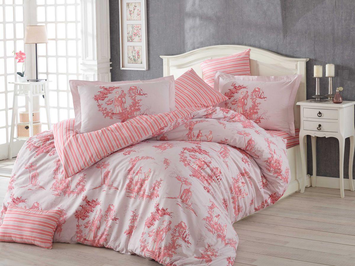 Комплект белья Hobby Home Collection Vanessa, 1,5-спальный, наволочка 50х70, цвет: розовый1501001099Комплект постельного белья Hobby Home Collection изготовлен из высококачественного поплина. Поплин - это ткань, изготавливаемая традиционным полотняным плетением из 100% хлопка, но из нитей разного калибра, за счет чего полотно получается с легким рубчиковым рельефом. По многим характеристикам ткань похожа на бязь, но на ощупь гораздо приятнее — более гладкая и мягкая. Поплин обладает лучшими свойствами ткани для постельного белья. Он плотный и в то же время мягкий на ощупь, износостойкий, немнущийся, гигроскопичный и неприхотливый в уходе, а после стирки практически не нуждается в глажке. Поплин обладает множеством преимуществ: - белье из него плотное, прочное и износостойкое; - не выцветает и не сминается; - не линяет и не деформируется (при стирке до 40°С); - натуральный хлопок в составе обеспечивает абсолютную гигиеничность постельного белья; - поплин хорошо вентилируется и впитывает влагу, отводя ее излишки от тела. По легенде этот...