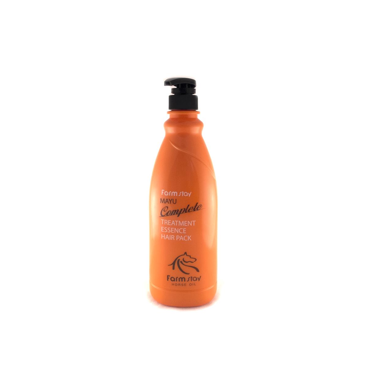 FarmStay Пительная маска для волос с лошадиным маслом, 1000 мл72523WDМаска - тритмент для волос с концентрированной ессенцией с лошадиным маслом предназначена специально для улучшения состояний безжизненных, тусклых волос. Маска питает и восстанавливает слабые волосы, делает их сильными, крепкими, гладкими и шелковистыми. Питательные вещества в составе маски смягчают и увлажняют волосы, а особая разглаживающая формула значительно облегчает расчесывание, лечит секущиеся кончики, не позволяет волосам спутываться. Животный жир богат незаменимыми жирными кислотами (например, в нем содержится альфа-липоевая и линолевая кислоты, а также витамин А и Е). Лошадиное масло особенно ценится тем, что он лучше других жиров усваивается волосами, так как имеет состав, схожий с человеческой жировой секрецией. Именно поэтому данное вещество не отторгается организмом. Уже после первого применения вы заметите, что волосы заблестели, стали более здоровыми, упругими и живыми.
