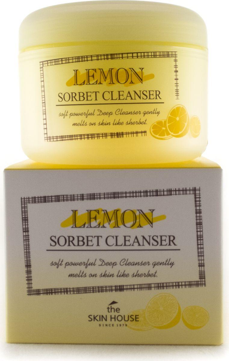The Skin House Очищающий сорбет с экстрактом лимона, 100 млБ33041_шампунь-барбарис и липа, скраб -черная смородинаОчищающий сорбет с экстрактом лимонаСорбет для умывания и снятия макияжа, его текстура тает на коже, подобно мороженому, эффективно очищая от макияжа.