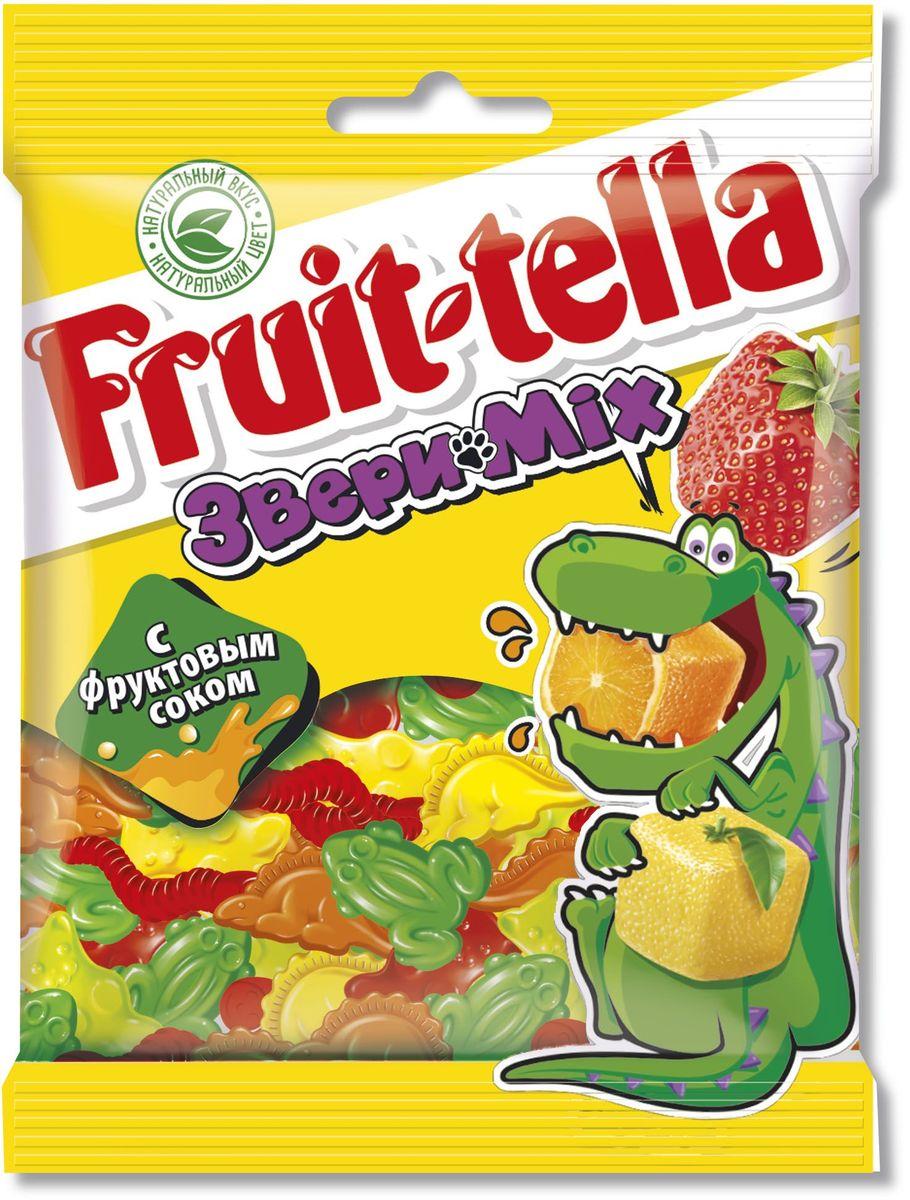 Fruittella Медвежата Звери Mix жевательный мармелад, 70 г 8250139