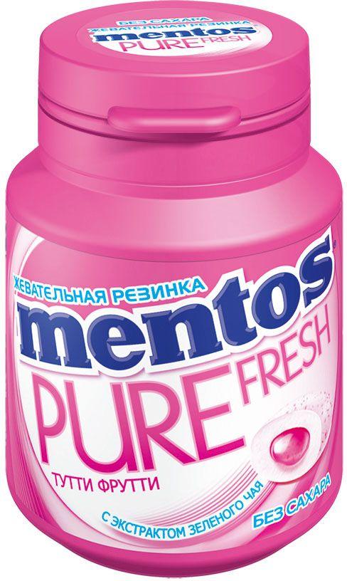 Ментос Pure Fresh Tutti-Frutti жевательная резинка, 54 г