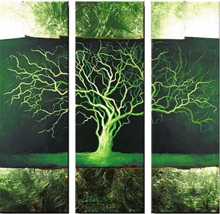 Картина Арт78 Дерево в негативе, модульная, 80 см х 80 см. арт780002-3арт780002-3Ничто так не облагораживает интерьер, как хорошая картина. Особенную атмосферу создаст крупное художественное полотно, размеры которого более метра. Подобные произведения искусства, выполненные в традиционной технике (холст, масляные краски), чрезвычайно капризны: требуют сложного ухода, регулярной реставрации, особого микроклимата – поэтому они просто не могут существовать в условиях обычной городской квартиры или загородного коттеджа, и требуют больших затрат. Данное полотно идеально приспособлено для создания изысканной обстановки именно у Вас. Это полотно создано с использованием как традиционных натуральных материалов (холст, подрамник - сосна), так и материалов нового поколения – краски, фактурный гель (придающий картине внешний вид масляной живописи, и защищающий ее от внешнего воздействия). Благодаря такой композиции, картина выглядит абсолютно естественно, и отличить ее от традиционной техники может только специалист. Но при этом изображение отлично смотрится с любого...