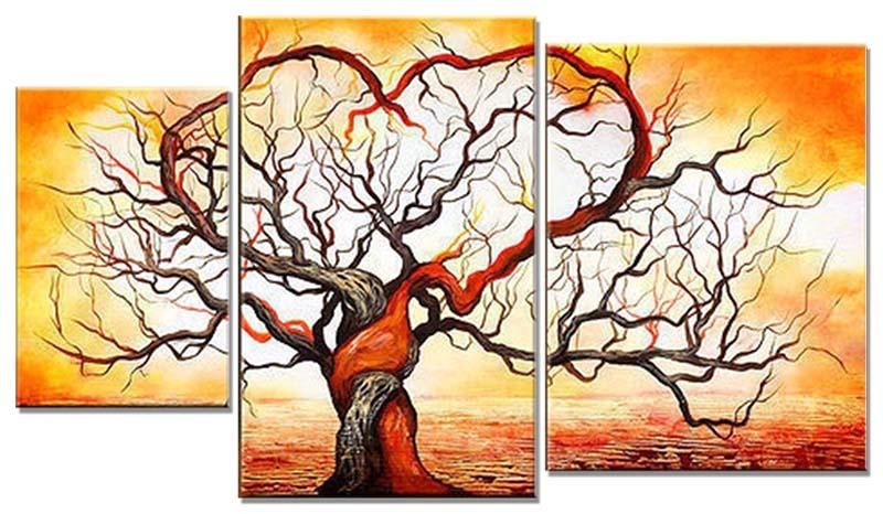 Картина Арт78 Деревья, модульная, 100 см х 60 см. арт780006-3арт780006-3Ничто так не облагораживает интерьер, как хорошая картина. Особенную атмосферу создаст крупное художественное полотно, размеры которого более метра. Подобные произведения искусства, выполненные в традиционной технике (холст, масляные краски), чрезвычайно капризны: требуют сложного ухода, регулярной реставрации, особого микроклимата – поэтому они просто не могут существовать в условиях обычной городской квартиры или загородного коттеджа, и требуют больших затрат. Данное полотно идеально приспособлено для создания изысканной обстановки именно у Вас. Это полотно создано с использованием как традиционных натуральных материалов (холст, подрамник - сосна), так и материалов нового поколения – краски, фактурный гель (придающий картине внешний вид масляной живописи, и защищающий ее от внешнего воздействия). Благодаря такой композиции, картина выглядит абсолютно естественно, и отличить ее от традиционной техники может только специалист. Но при этом изображение отлично смотрится с любого...
