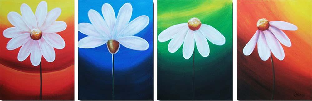 Картина Арт78 Ромашки, модульная, 200 см х 90 см. арт780042арт780042Ничто так не облагораживает интерьер, как хорошая картина. Особенную атмосферу создаст крупное художественное полотно, размеры которого более метра. Подобные произведения искусства, выполненные в традиционной технике (холст, масляные краски), чрезвычайно капризны: требуют сложного ухода, регулярной реставрации, особого микроклимата – поэтому они просто не могут существовать в условиях обычной городской квартиры или загородного коттеджа, и требуют больших затрат. Данное полотно идеально приспособлено для создания изысканной обстановки именно у Вас. Это полотно создано с использованием как традиционных натуральных материалов (холст, подрамник - сосна), так и материалов нового поколения – краски, фактурный гель (придающий картине внешний вид масляной живописи, и защищающий ее от внешнего воздействия). Благодаря такой композиции, картина выглядит абсолютно естественно, и отличить ее от традиционной техники может только специалист. Но при этом изображение отлично смотрится с любого...