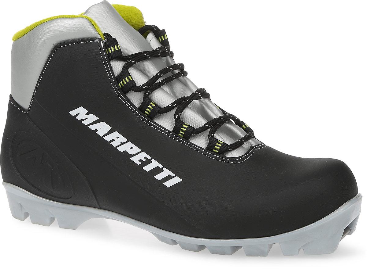 "Ботинки лыжные Marpetti ""Bolzano NNN"", цвет: черный, серый, светло-зеленый. Размер 46 156И"