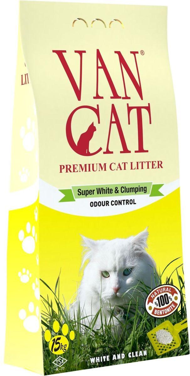 """Наполнитель для кошачьих туалетов """"Van Cat"""", комкующийся, без пыли, для крупных кошек, 15 кг 20245"""
