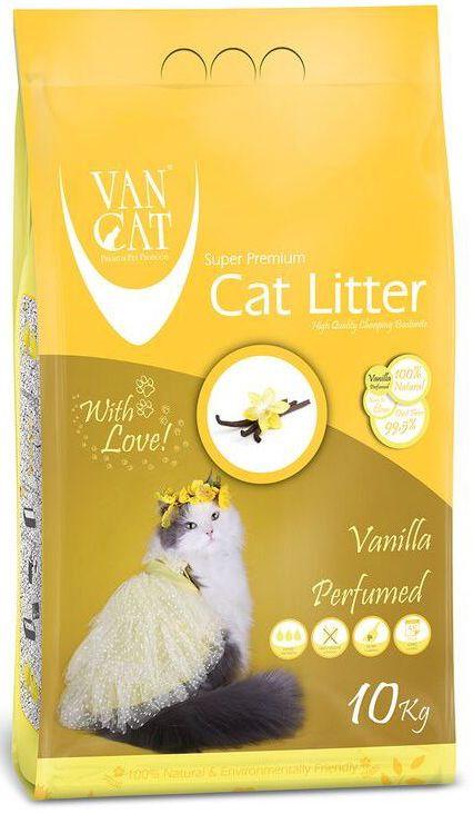 """Наполнитель для кошачьих туалетов """"Van Cat"""", комкующийся, без пыли, с ароматом ванили, 10 кг 20638"""