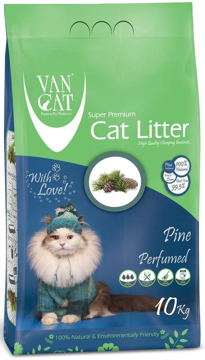 """Наполнитель для кошачьих туалетов """"Van Cat"""", комкующийся, без пыли, с ароматом соснового леса, 10 кг 20661"""