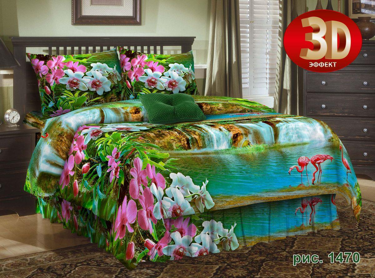 Комплект белья Guten Morgen Фламинго, 1,5-спальный, наволочки 70х70. D-1470-143-150-70D-1470-143-150-70Комплект постельного белья Guten Morgen Фламинго, изготовленный из бязи (100% хлопка), поможет вам расслабиться и подарит спокойный сон. Комплект состоит из пододеяльника, простыни и двух наволочек. Благодаря такому комплекту постельного белья вы сможете создать атмосферу уюта и комфорта в вашей спальне.