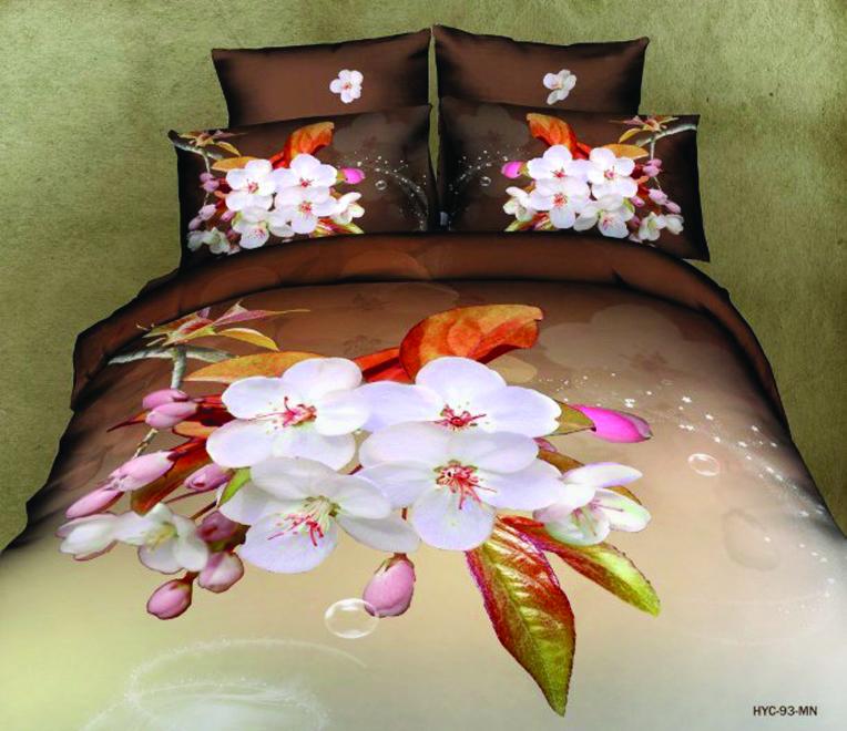 Комплект белья Guten Morgen Цветы, семейный, наволочки 70х7010503Комплект постельного белья Guten Morgen Цветы, изготовленный из сатина (100% хлопка), являющегося экологически чистым продуктом, поможет вам расслабиться и подарит спокойный сон. Комплект состоит из двух пододеяльников, простыни и двух наволочек. Предметы комплекта оформлены цветочным принтом. Постельное белье имеет и привлекающий внешний вид и обладает яркими, сочными цветами. Благодаря такому комплекту постельного белья вы сможете создать атмосферу уюта и комфорта в вашей спальне.