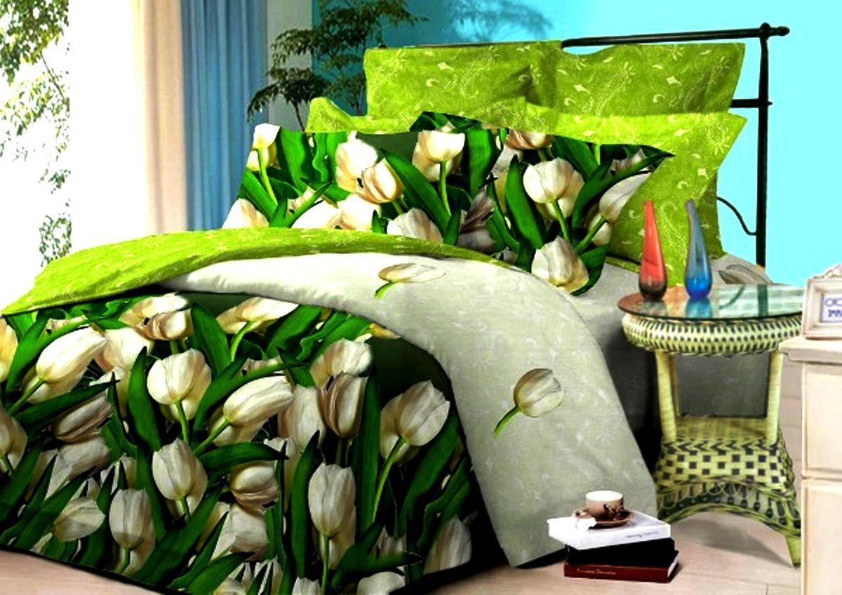 Комплект белья Guten Morgen, евро, наволочки 70х70. С-748-200-240-70С-748-200-240-70Комплект постельного белья Guten Morgen, изготовленный из поплина (100% хлопка), являющегося экологически чистым продуктом, поможет вам расслабиться и подарит спокойный сон. Комплект состоит из пододеяльника, простыни и двух наволочек. Постельное белье имеет и привлекающий внешний вид. Благодаря такому комплекту постельного белья вы сможете создать атмосферу уюта и комфорта в вашей спальне.