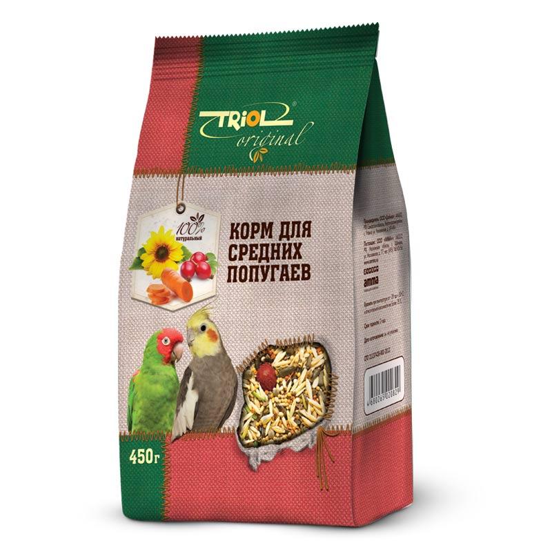 Корм Triol Original, для средних попугаев, 450 гTF-00400Корма и лакомства Triol Original содержат только натуральные ингредиенты и изготовлены из отборного зерна. Оригинальная рецептура учитывает пещевые потребности вашего пернатого питомца. Сбалансированный и разнообразный состав не только удовлетворяет вкусовым предпочтениям, но и укрепляет здоровье. Полнорационный корм, разработанный специально для средних попугаев. Изготовлен исключительно из натуральных ингредиентов природного происхождения, упакован в практичный четырехшовный пакет с плоским дном, сохраняющим свежесть корма. Состав: Просо белое, просо красное, семена подсолнечника, овёс, овёс очищенный, гречка, ячмень, конопля, канареечник, суданка, сорго, сафлор, морковь, шиповник, витаминный комплекс. Попугайчики - шумные и суетливые создания. В каждое кормление насыпайте столько корма, сколько птичка сможет съесть за один приём - излишки могут испачкаться или испортиться. Лучше добавлять свежую порцию по необходимости. Обязательно проконсультируйтесь у заводчика попугая, как...