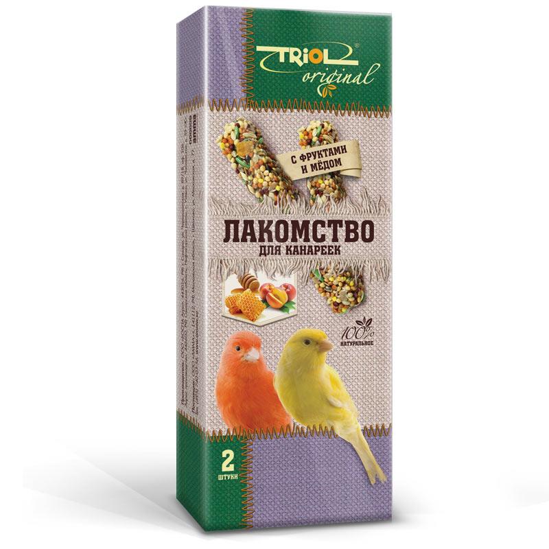 Лакомство для канареек Triol Original, с фруктами и медом, 2 штTF-20600Корма и лакомства Triol Original содержат только натуральные ингредиенты и изготовлены из отборного зерна. Оригинальная рецептура учитывает пещевые потребности вашего пернатого питомца. Сбалансированный и разнообразный состав не только удовлетворяет вкусовым предпочтениям, но и укрепляет здоровье. Лакомство для канареек с фруктами и мёдом: в картонной коробке две палочки лакомства (запаяны в полиэтиленовый пакет для сохранения свежести продукта). Лакомство - дополнительное питание и развлечение для Вашего птички, позволяющее также поточить клюв, что необходимо декоративным птицам, живущим в неволе. Вес 2 палочек - 88 г.