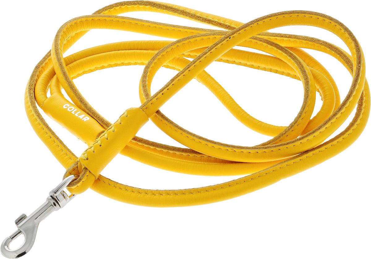 Поводок для собак CoLLaR Glamour, цвет: желтый, диаметр 6 мм, длина 1,83 м34388Поводок для собак CoLLaR Glamour изготовлен из натуральной кожи и снабжен металлическим карабином. Поводок отличается не только исключительной надежностью и удобством, но и оригинальным дизайном. Он идеально подойдет для активных собак, для прогулок на природе и охоты. Поводок - необходимый аксессуар для собаки. Ведь в опасных ситуациях именно он способен спасти жизнь вашему любимому питомцу. Диаметр поводка: 6 мм. Длина поводка: 1,83 м.