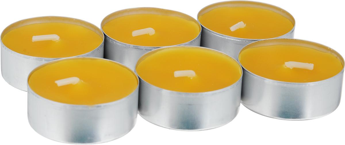 Свеча ароматическая чайная Bolsius Манго, 6 шт103626941510Свеча ароматическая Bolsius Манго создаст в доме атмосферу тепла и уюта. Чайная свеча в металлической подставке приятно смотрится в интерьере, она безопасна и удобна в использовании. Свеча создаст приятное мерцание, а сладкий манящий аромат окутает вас и подарит приятные ощущения. Время горения: 4 ч.