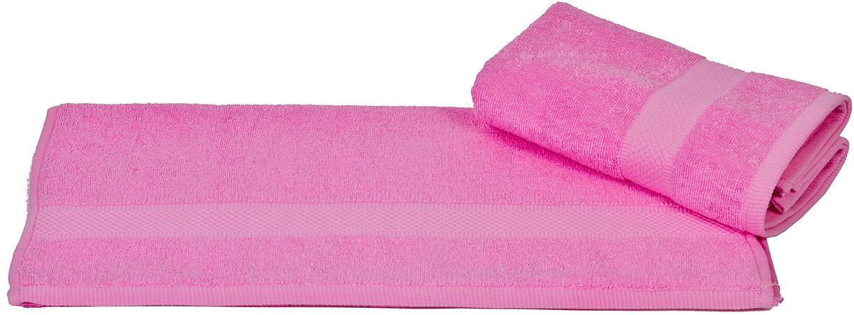Полотенце Hobby Home Collection Beril, цвет: розовый, 50 х 90 см68/5/3Полотенце Hobby Home Collection Beril выполнено из 100% хлопка. Изделие отлично впитывает влагу, быстро сохнет, сохраняет яркость цвета и не теряет форму даже после многократных стирок. Такое полотенце очень практично и неприхотливо в уходе. А простой, но стильный дизайн полотенца позволит ему вписаться даже в классический интерьер ванной комнаты.