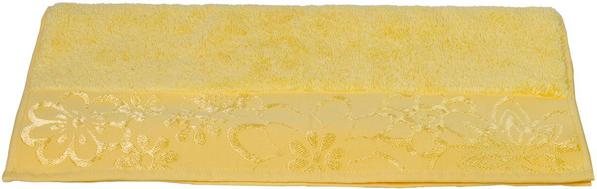 Полотенце Hobby Home Collection Dora, цвет: желтый, 100 х 150 см1501000427Полотенце Hobby Home Collection Dora выполнено из 100% хлопка. Изделие отлично впитывает влагу, быстро сохнет, сохраняет яркость цвета и не теряет форму даже после многократных стирок. Такое полотенце очень практично и неприхотливо в уходе. А простой, но стильный дизайн полотенца позволит ему вписаться даже в классический интерьер ванной комнаты.