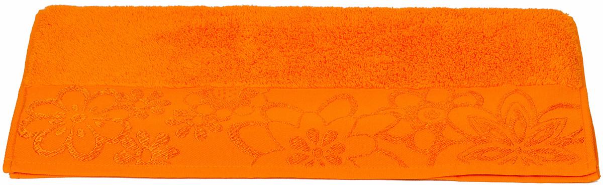 Полотенце Hobby Home Collection Dora, цвет: оранжевый, 50 х 90 см1501000438Полотенце Hobby Home Collection Dora выполнено из 100% хлопка. Изделие отлично впитывает влагу, быстро сохнет, сохраняет яркость цвета и не теряет форму даже после многократных стирок. Такое полотенце очень практично и неприхотливо в уходе. А простой, но стильный дизайн полотенца позволит ему вписаться даже в классический интерьер ванной комнаты.