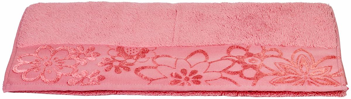Полотенце Hobby Home Collection Dora, цвет: розовый, 50 х 90 см1501000439Полотенце Hobby Home Collection Dora выполнено из 100% хлопка. Изделие отлично впитывает влагу, быстро сохнет, сохраняет яркость цвета и не теряет форму даже после многократных стирок. Такое полотенце очень практично и неприхотливо в уходе. А простой, но стильный дизайн полотенца позволит ему вписаться даже в классический интерьер ванной комнаты.
