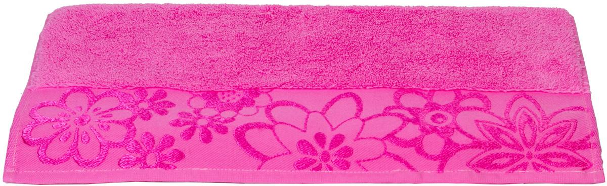 Полотенце Hobby Home Collection Dora, цвет: темно-розовый, 70 х 140 см1501000453Полотенце Hobby Home Collection Dora выполнено из 100% хлопка. Изделие отлично впитывает влагу, быстро сохнет, сохраняет яркость цвета и не теряет форму даже после многократных стирок. Такое полотенце очень практично и неприхотливо в уходе. А простой, но стильный дизайн полотенца позволит ему вписаться даже в классический интерьер ванной комнаты.