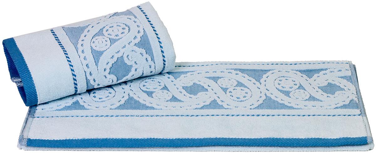 Полотенце Hobby Home Collection Hurrem, цвет: голубой, 50 х 90 см1501000477Полотенце Hobby Home Collection Hurrem выполнено из 100% хлопка. Изделие отлично впитывает влагу, быстро сохнет, сохраняет яркость цвета и не теряет форму даже после многократных стирок. Такое полотенце очень практично и неприхотливо в уходе. А простой, но стильный дизайн полотенца позволит ему вписаться даже в классический интерьер ванной комнаты.