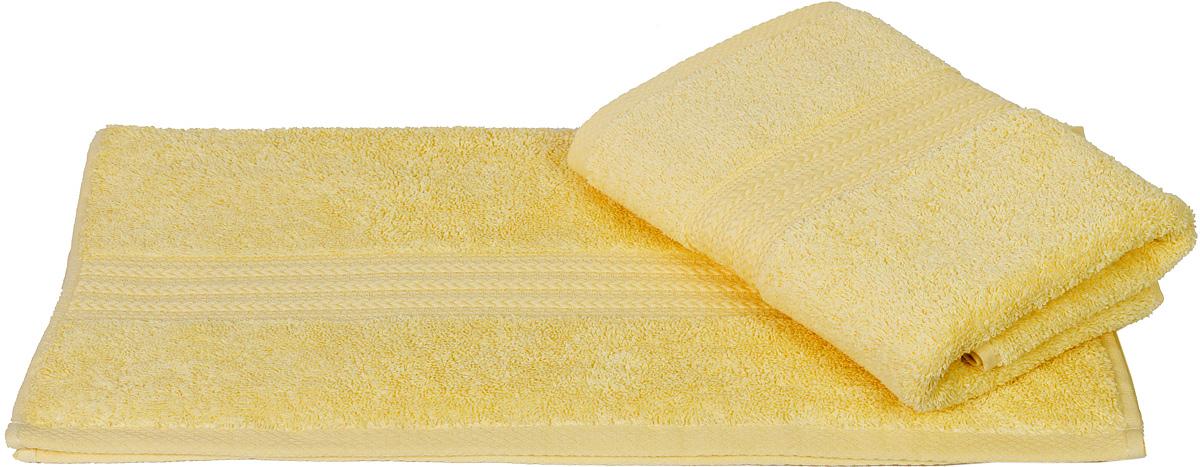 Полотенце Hobby Home Collection Rainbow, цвет: светло-желтый, 70 х 140 см1501000571Полотенце Hobby Home Collection Rainbow выполнено из 100% хлопка. Изделие отлично впитывает влагу, быстро сохнет, сохраняет яркость цвета и не теряет форму даже после многократных стирок. Такое полотенце очень практично и неприхотливо в уходе. А простой, но стильный дизайн полотенца позволит ему вписаться даже в классический интерьер ванной комнаты.