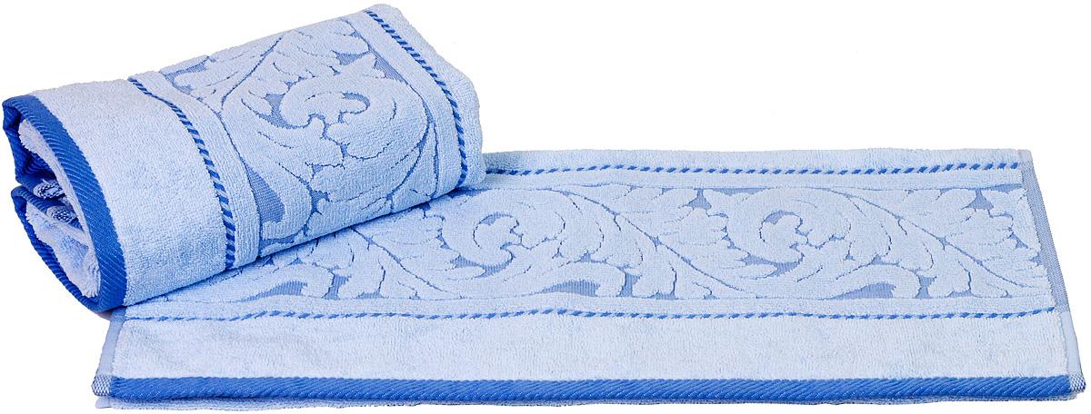 Полотенце Hobby Home Collection Sultan, цвет: голубой, 70 х 140 см531-401Полотенце Hobby Home Collection Sultan выполнено из 100% хлопка. Изделие отлично впитывает влагу, быстро сохнет, сохраняет яркость цвета и не теряет форму даже после многократных стирок. Такое полотенце очень практично и неприхотливо в уходе. А простой, но стильный дизайн полотенца позволит ему вписаться даже в классический интерьер ванной комнаты.