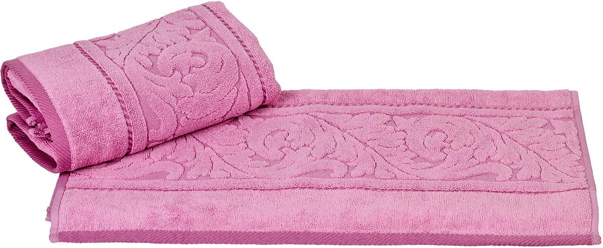 Полотенце Hobby Home Collection Sultan, цвет: розовый, 70 х 140 см531-105Полотенце Hobby Home Collection Sultan выполнено из 100% хлопка. Изделие отлично впитывает влагу, быстро сохнет, сохраняет яркость цвета и не теряет форму даже после многократных стирок. Такое полотенце очень практично и неприхотливо в уходе. А простой, но стильный дизайн полотенца позволит ему вписаться даже в классический интерьер ванной комнаты.