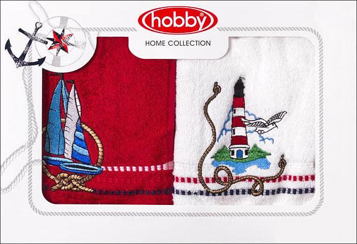 Полотенце махровое Hobby Home Collection Marina, цвет: белый, красный, 50х90 см, 2 штS03301004Полотенца марки Хобби уникальны и разрабатываются эксклюзивно для данной марки. При создании коллекции используются самые высокотехнологичные ткацкие приемы. Дизайнеры марки украшают вещи изысканным декором. Коллекция линии соответствует актуальным тенденциям, диктуемым мировыми подиумами и модой в области домашнего текстиля.