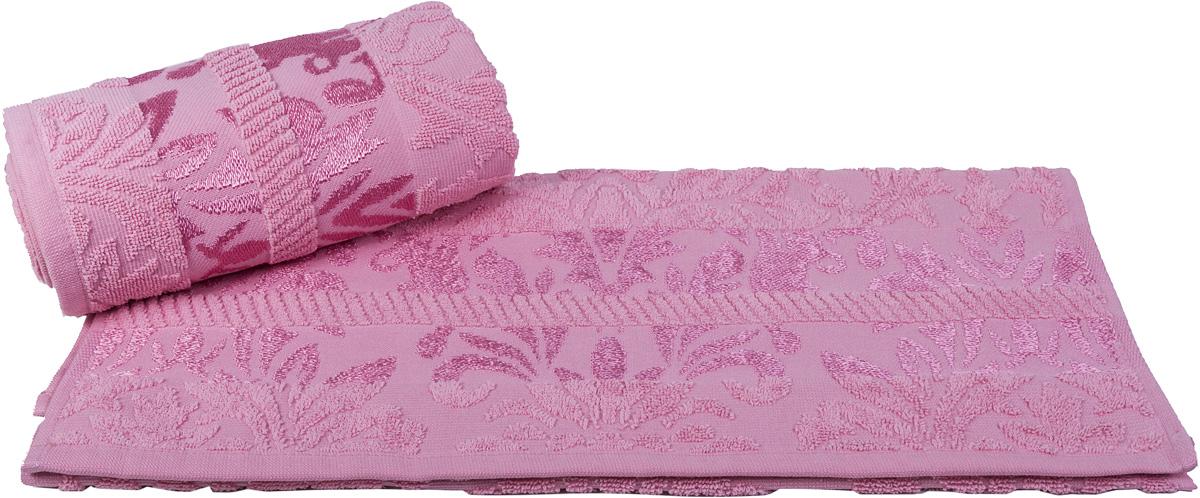 Полотенце Hobby Home Collection Versal, цвет: розовый, 50 х 90 см10503Полотенце Hobby Home Collection Versal выполнено из 100% хлопка. Изделие отлично впитывает влагу, быстро сохнет, сохраняет яркость цвета и не теряет форму даже после многократных стирок. Такое полотенце очень практично и неприхотливо в уходе. А простой, но стильный дизайн полотенца позволит ему вписаться даже в классический интерьер ванной комнаты.