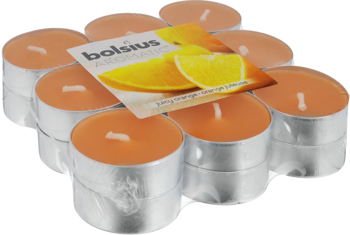 """Свеча ароматическая чайная Bolsius """"Апельсин"""", 18 шт 103626949384"""