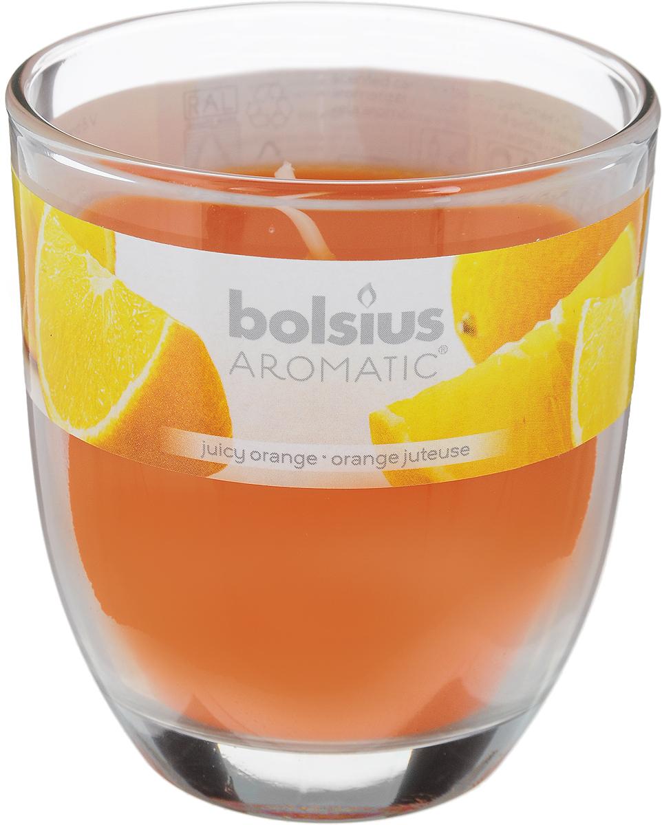 Свеча ароматическая Bolsius Апельсин, 7 х 7 х 8 см103626150384Ароматизированная свеча Bolsius Апельсин изготовлена из воска и поставляется в подсвечнике в виде стеклянного стакана. Изделие отличается оригинальным дизайном и приятным ароматом. Такая свеча может стать отличным подарком или дополнить интерьер вашей комнаты.