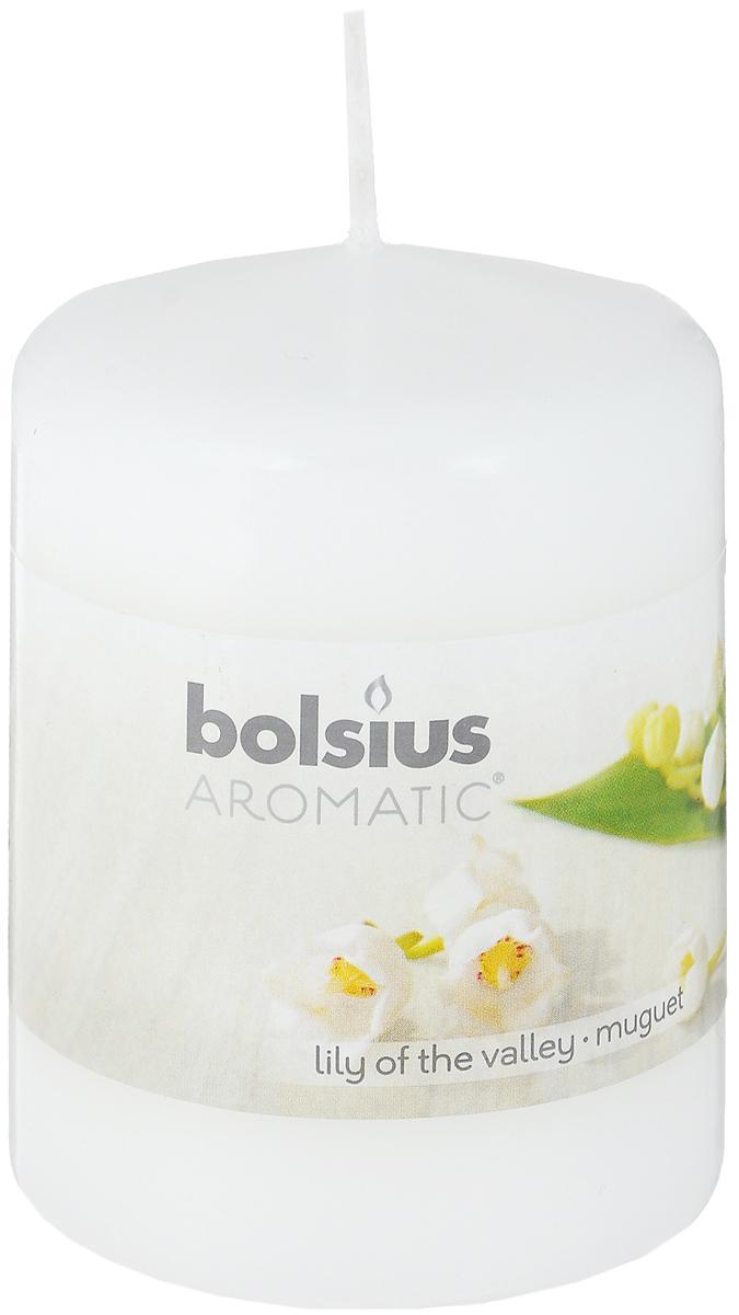 Свеча ароматическая Bolsius Ландыш, 6 х 6 х 7,3 см103626490103Свеча ароматическая Bolsius Ландыш создаст в доме атмосферу тепла и уюта. Свеча приятно смотрится в интерьере, она безопасна и удобна в использовании. Свеча создаст приятное мерцание, а сладкий манящий аромат окутает вас и подарит приятные ощущения.