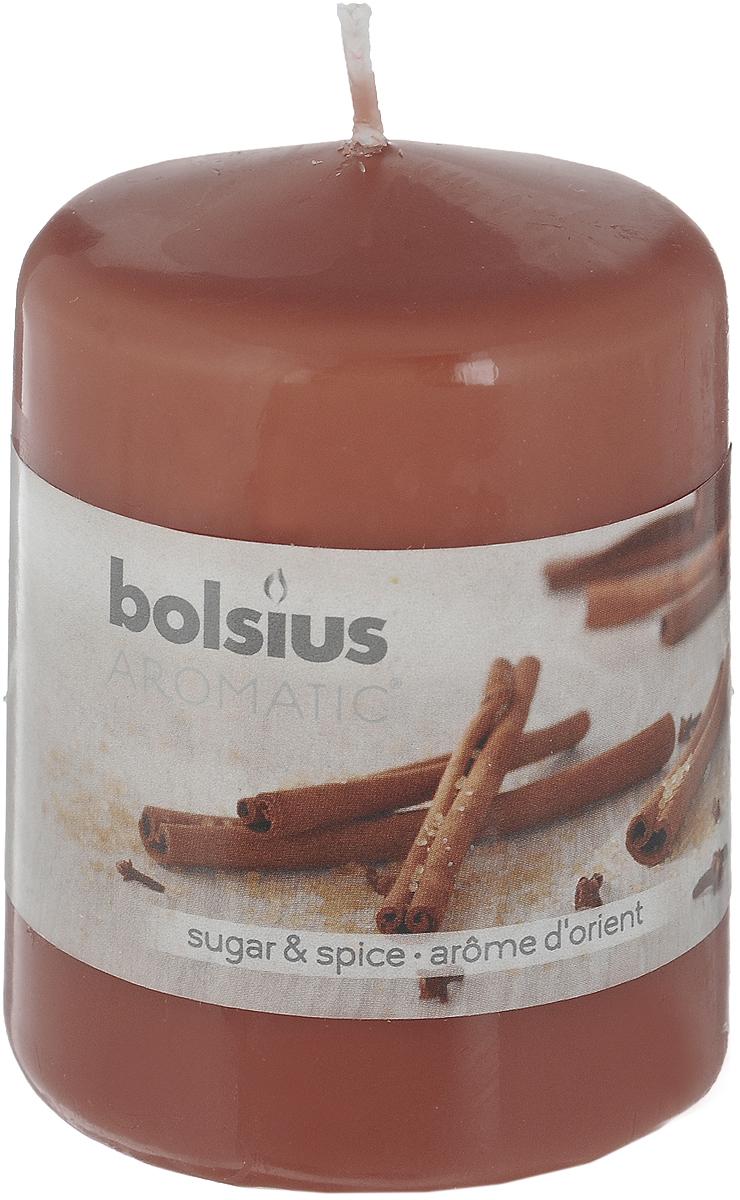 Свеча ароматическая Bolsius Пряность, 6 х 6 х 7,3 см103626490187Свеча ароматическая Bolsius Пряность создаст в доме атмосферу тепла и уюта. Свеча приятно смотрится в интерьере, она безопасна и удобна в использовании. Свеча создаст приятное мерцание, а сладкий манящий аромат окутает вас и подарит приятные ощущения.