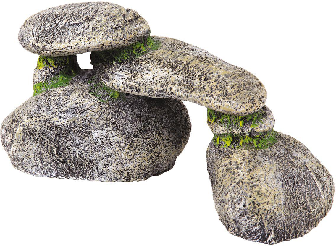 Декорация для аквариума Dezzie Камень. Трио, 24,5 х 8,5 х 12 см5626060Декорация для аквариума Dezzie Камень. Трио изготовлена из прочных, нетоксичных материалов, ее окраска устойчива ко времени, она не крошатся, да и чистить ее очень легко. Кроме того, ее вес незначителен, что уменьшает нагрузку на стекло аквариума. Если вы содержите рыб из каменистых водоемов, то безусловное требование к их аквариумам - это наличие в них сооружений из камней. Искусственные камни созданы с учетом требований профессиональных аквариумистов, поэтому безопасны даже для самых беспокойных обитателей аквариума. Размер декорации: 24,5 х 8,5 х 12 см.