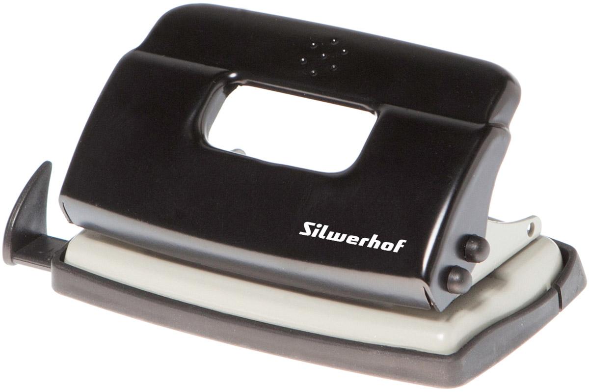 Silwerhof Дырокол Debut на 10 листов цвет черныйPP-220Надежный цельнометаллический дырокол Silwerhof Debut - это незаменимый офисный инструмент для перфорации бумаги и картона.Металлический дырокол с нескользящим основанием предназначен для одновременной перфорации до 10 листов бумаги 80г/м. Для удобства он оснащен выдвижной линейкой с разметкой для документов различных форматов, а также имеет съемный резервуар для обрезков бумаги, встроенный в основание.Также у данного атрибута присутствует окно для персонализации и пластиковый поддон для сбора конфетти с функцией частичного открывания.