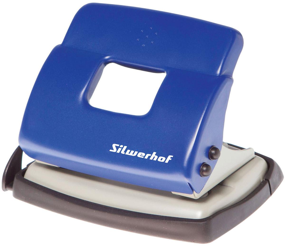 Silwerhof Дырокол Debut на 20 листов цвет синий392030-02Надежный цельнометаллический дырокол Silwerhof Debut - это незаменимый офисный инструмент для перфорации бумаги и картона. Металлический дырокол с нескользящим основанием предназначен для одновременной перфорации до 20 листов бумаги 80г/м. Для удобства он оснащен выдвижной линейкой с разметкой для документов различных форматов, а также имеет съемный резервуар для обрезков бумаги, встроенный в основание. Также у данного атрибута присутствует окно для персонализации и пластиковый поддон для сбора конфетти с функцией частичного открывания.