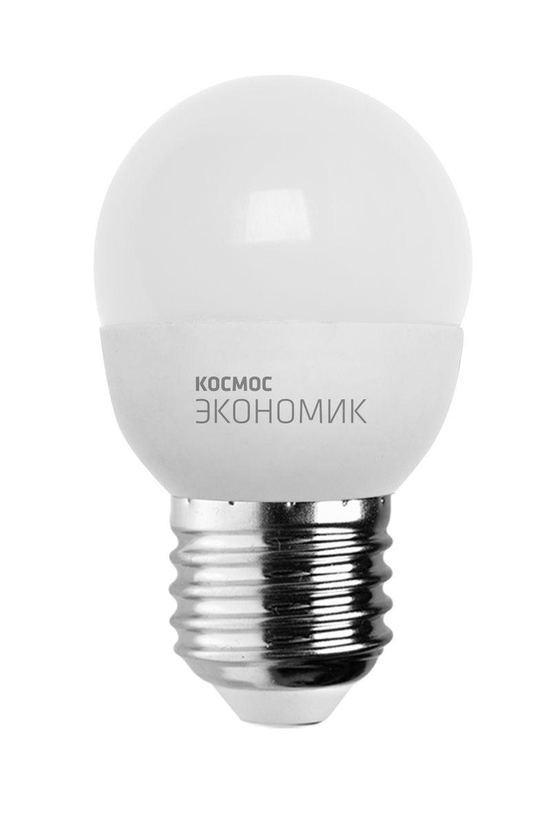 Лампа светодиодная Космос Шарик, 220V, теплый свет, цоколь Е27, 6.5WLkecLED6.5wGL45E2730Светодиодная лампа КОСМОС Замена стандартных ламп накаливания 50W Модель: ШАРИК Цоколь: Стандарт (Е27) Потребляемая мощность: 6.5W Световой поток, лм: 500 Светодиоды: LED SMD 2835 Чип: Epistar Индекс цветопередачи: Ra>70 Напряжение: 220V Угол, град: 270 Размер лампы (мм): 45 х 82 Срок службы до 25 000 часов Температура использования -40+40С Цветность – 3000K Специальные возможности/особенности: ДЕКОРАТИВНАЯ СВЕТОДИОДНАЯ ЛАМПА ШАРИК 6.5 Вт серии Космос Экономик является аналогом лампы накаливания 50 Вт. В основе лампы используются чипы от мирового лидера Epistar- что обеспечивает надежную и стабильную работу в течение всего срока службы (25 000 часов). До 90% экономии энергии по сравнению с обычной лампой накаливания (сопоставимы по размеру); стабильный световой поток в течение всего срока службы; экологическая безопасность (не содержит ртути и тяжелых металлов); мягкое и равномерное распределение света повышает зрительный комфорт и...