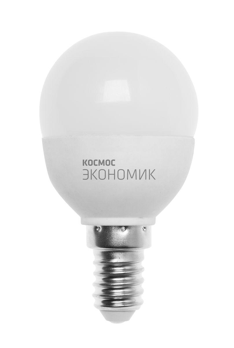 Лампа светодиодная Космос Шарик, 220V, теплый свет, цоколь Е14, 6.5WLkecLED6.5wGL45E1430Светодиодная лампа КОСМОС Замена стандартных ламп накаливания 50W Модель: ШАРИК Цоколь: Стандарт (Е14) Потребляемая мощность: 6.5W Световой поток, лм: 500 Светодиоды: LED SMD 2835 Чип: Epistar Индекс цветопередачи: Ra>70 Напряжение: 220V Угол, град: 270 Размер лампы (мм): 45 х 82 Срок службы до 25 000 часов Температура использования -40+40С Цветность – 3000K Специальные возможности/особенности: ДЕКОРАТИВНАЯ СВЕТОДИОДНАЯ ЛАМПА ШАРИК 6.5 Вт серии Космос Экономик является аналогом лампы накаливания 50 Вт. В основе лампы используются чипы от мирового лидера Epistar- что обеспечивает надежную и стабильную работу в течение всего срока службы (25 000 часов). До 90% экономии энергии по сравнению с обычной лампой накаливания (сопоставимы по размеру); стабильный световой поток в течение всего срока службы; экологическая безопасность (не содержит ртути и тяжелых металлов); мягкое и равномерное распределение света повышает зрительный комфорт и...