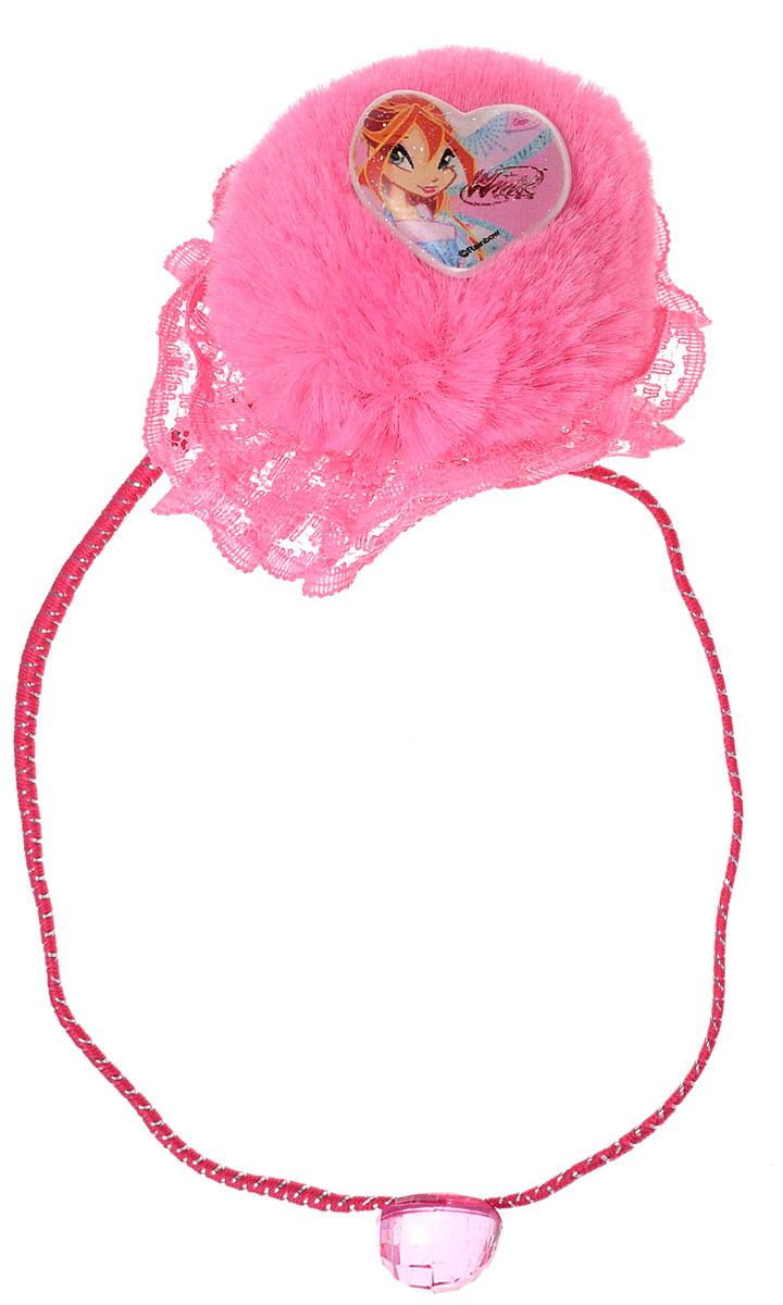 Резинка для волос для девочки Winx Club, цвет: розовый. 1403114031Оригинальная резинка для волос Winx Club станет изюминкой образа юной леди. Изделие изготовлено из гипоаллергенных материалов, не имеет заостренных деталей и абсолютно безопасно для ребенка. Резинка выполнена из полиэстера и декорирована кружевом и пушистым помпоном с символикой бренда. В комплекте идут две резинки. Рекомендуемый возраст: от 3х лет.