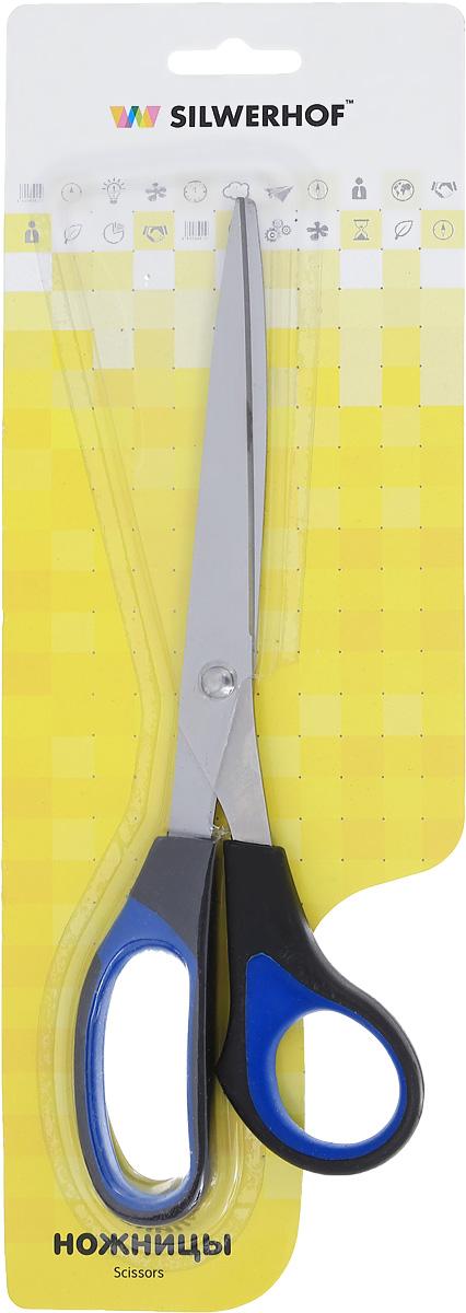 Silwerhof Ножницы офисные Titanlinie 23 см450058Офисные ножницы Silwerhof Titanlinie имеют лезвия из высококачественной нержавеющей стали с титановым покрытием, специальные прорезиненные вставки на кольцах. Ножницы предназначены для резки бумаги, картона, фотографий.