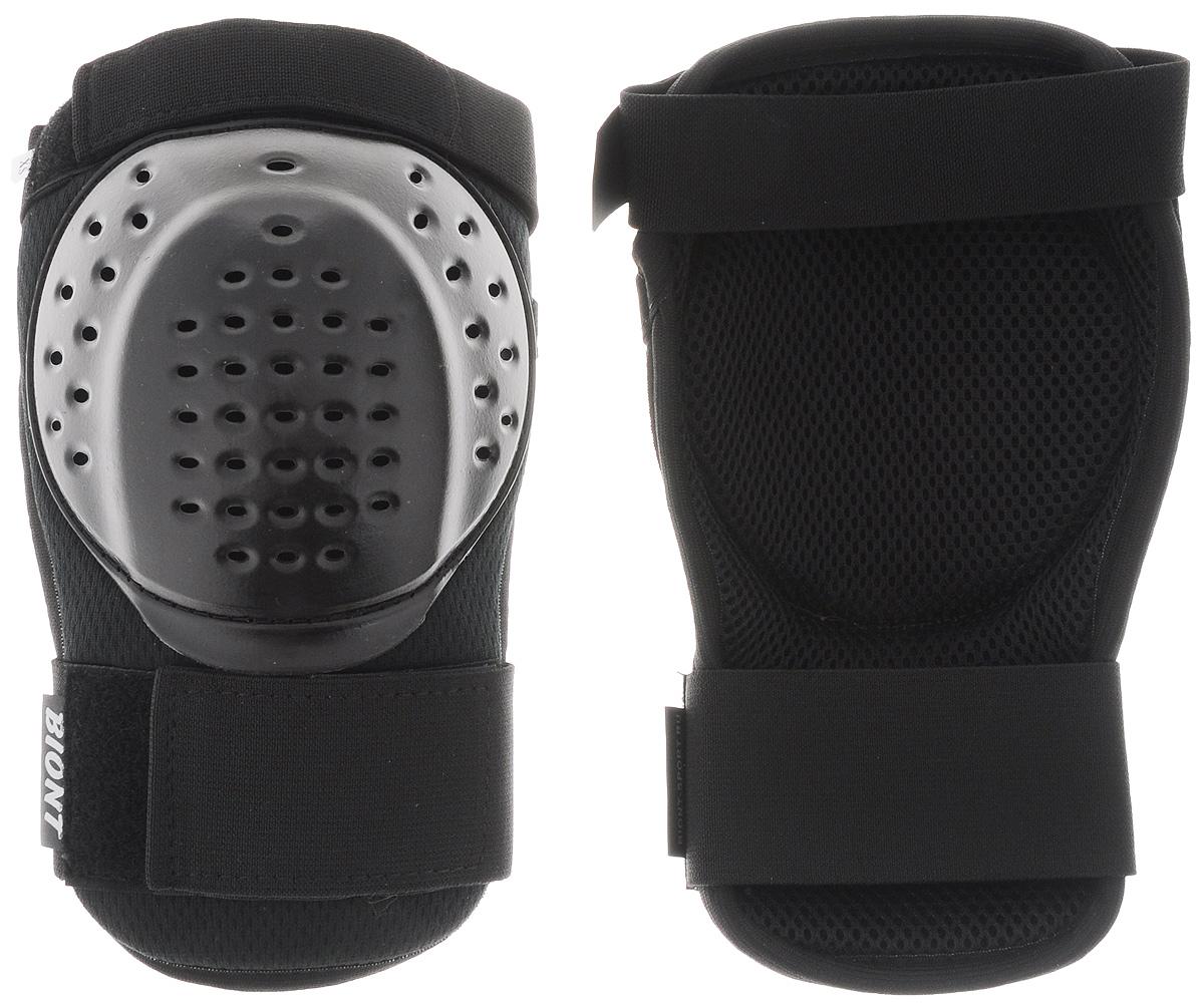 Защита колена Biont, цвет: черный. Размер L/XL231_002Дышащая композитная защита колена Biont защитит вас от травмирования ног. Выполнена из текстиля и прочного пластика. Профилированная по форме колена чашка из ударопрочного пластика встроена в амортизационную композиционную конструкцию защиты. Она не стеснит ваших движений. Защита закрепляется на ноге при помощи эластичных лент на липучке.
