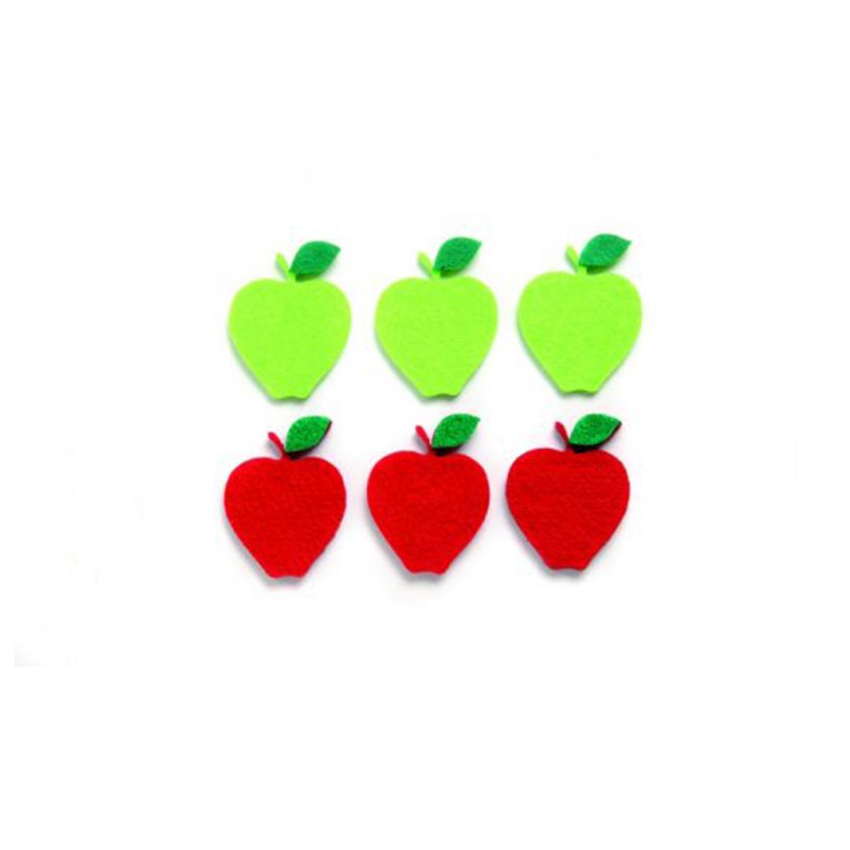 Фигурки из фетра Glorex Яблоки, цвет: красный, зеленый, 4,5 см, 6 шт318690Фетр пользуется большой популярностью среди рукодельниц. Его любят за эстетичный вид, практичность и отличную текстуру. Из данного материала вашему вниманию предлагаются заготовки Glorex. Широкое разнообразие цветов и форм поможет реализовать творческие задумки и гармоничным образом дополнить ваше творение. Из фетра можно создавать обложки для книг, ежедневников, игрушки, декоративные чехлы для подушек и многое, многое другое.